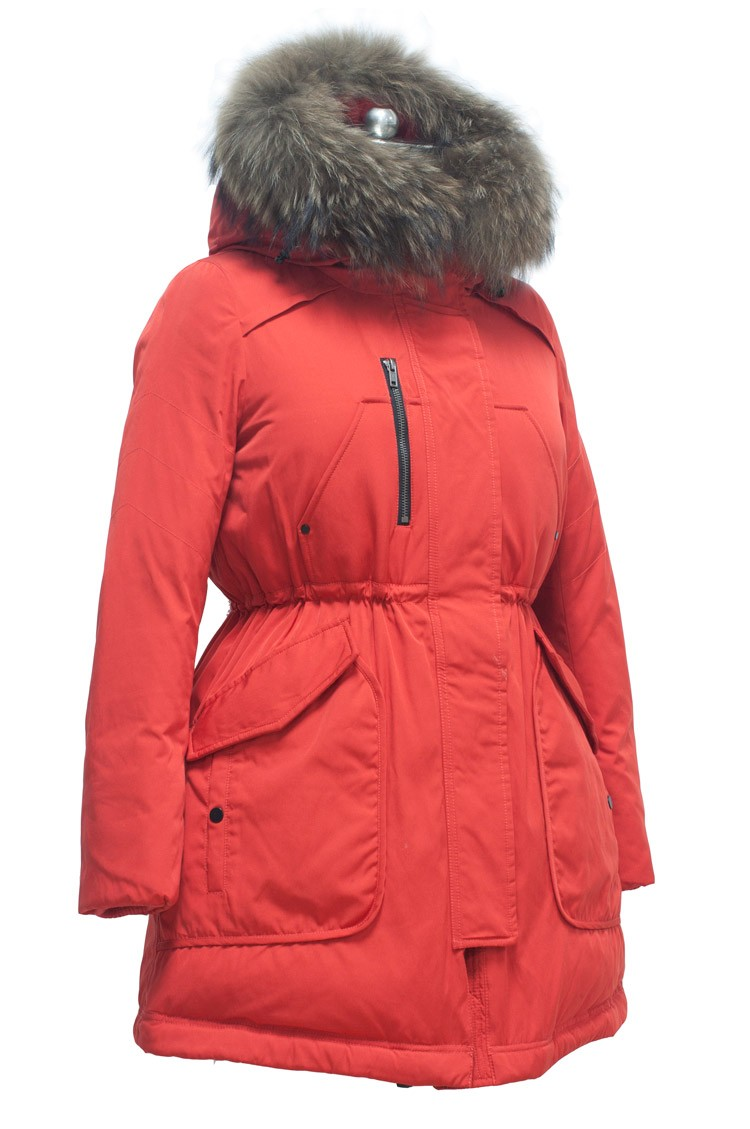 Rode Winterjas.Beste Rood Lange Jas Met Kap Bontjas Rode Winterjas Vrouwen Buy