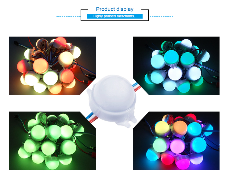 Outdoor addressable DC12V SMD5050 3PCS Full-color 30MM Led Point Lights