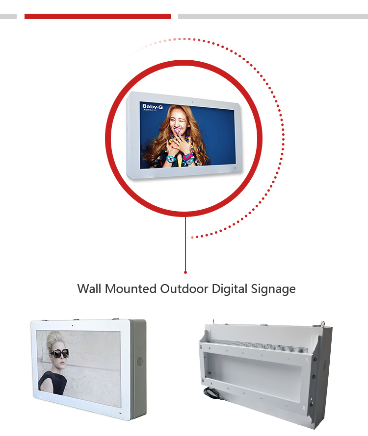 43 Oem Odm Interactive 32 Inch Wall Mounted Digital Signage For Exhibitions