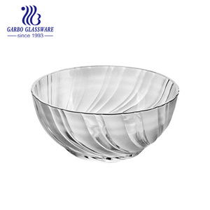 8 inchea new item salad glass bowl set with wholesale price