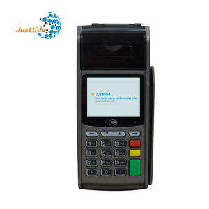 Justtide OEM ODM EMV PCI Wireless GPRS USB sim card contactless hand pos machine pos terminal