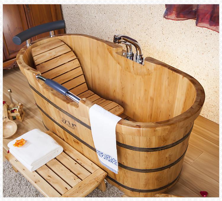 Vasca da bagno in legno, bagno secchio di legno, legno termale calda ...