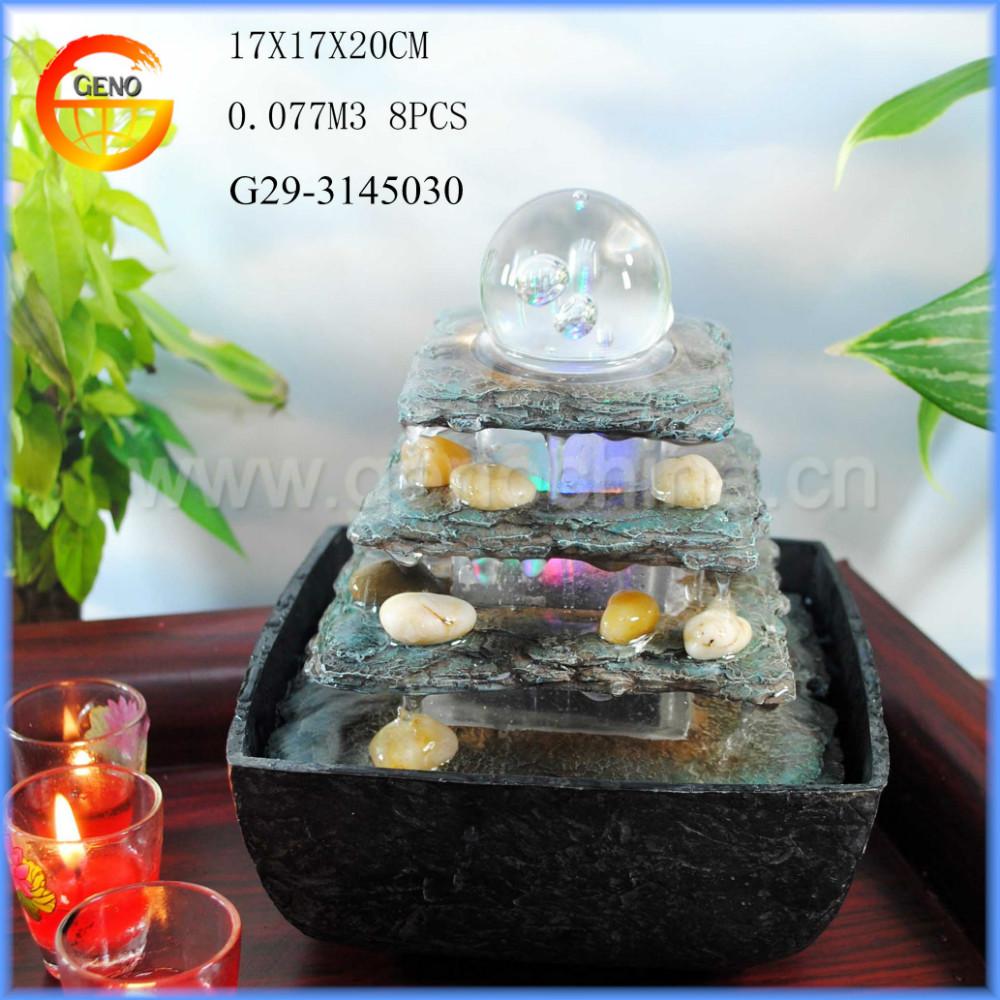 Small Tabletop Indoor Waterfall Buddha
