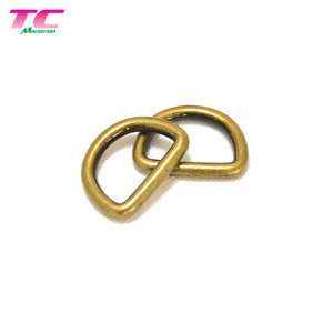 Wholesale Nickel Free Metal Plated D Ring Customized Metal D Rings For Bags