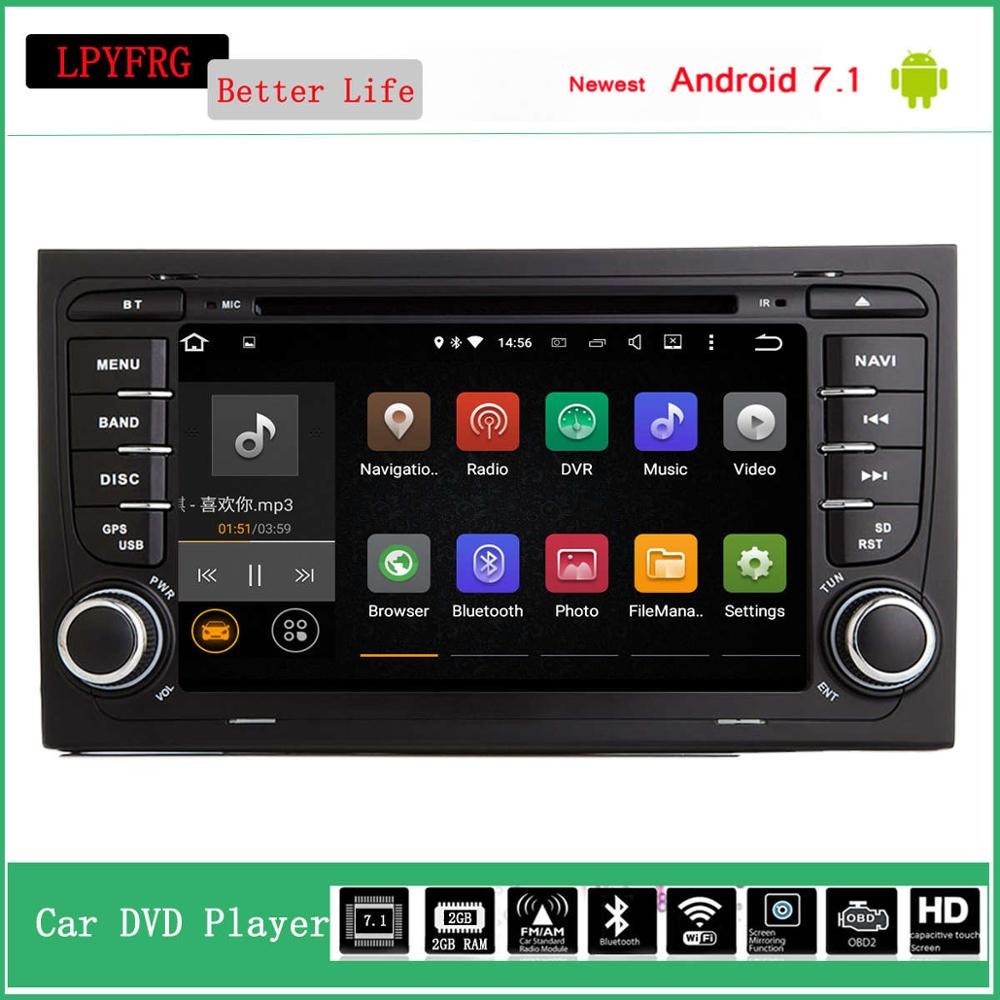 7'' touch screen android car stereo for audi a4 b5 support bose car audio gps navi a/v system 2g ram 4g lte bluetooth rds dab+