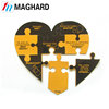 magnetic heart shaped small jigsaw puzzle mat