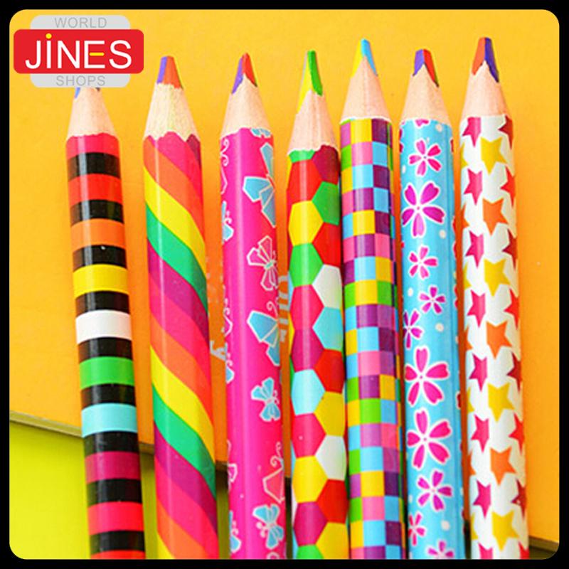 regenboog kleuren potlood-Koop Goedkope regenboog kleuren