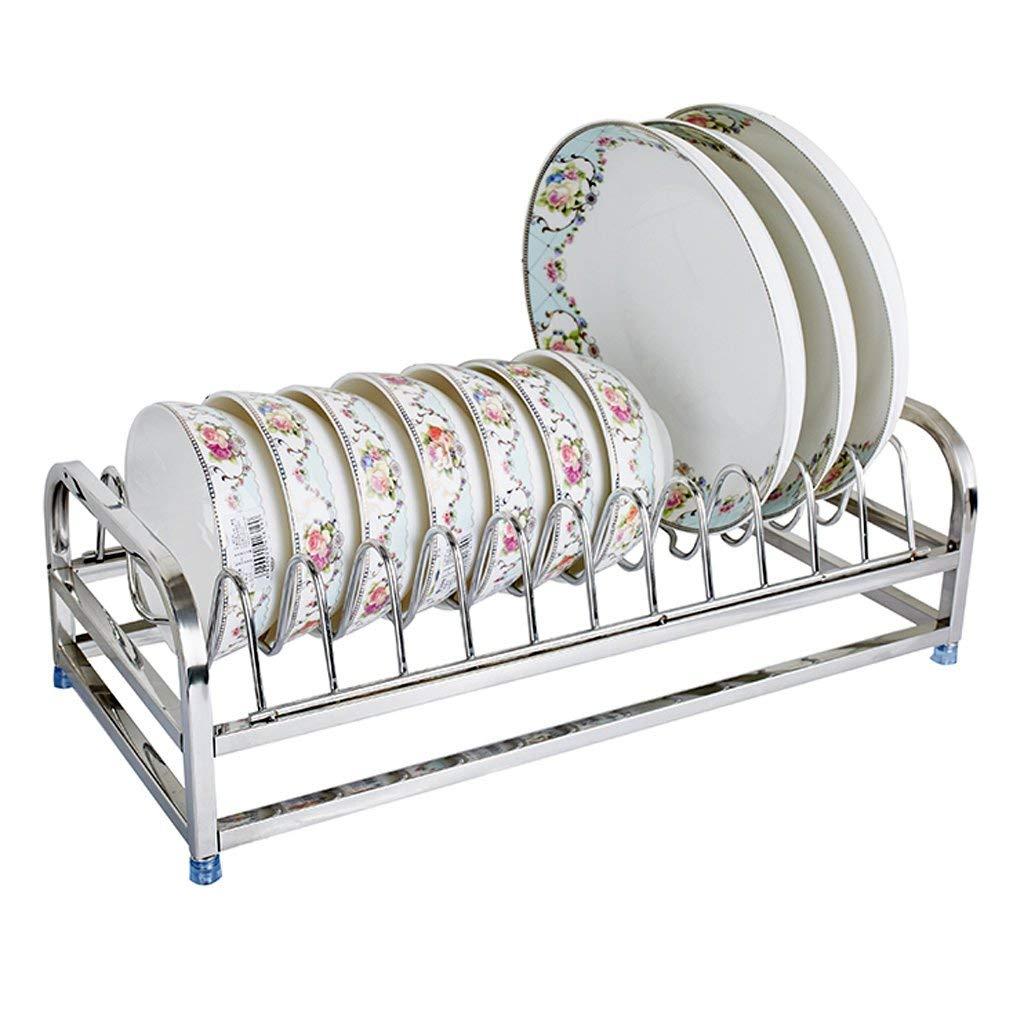 Kitchen dish rack Stainless steel kitchen plate storage rack/dish rack kitchen plate storage rack bowl storage rack/drain rack kitchen utensils storage box rack