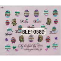 Lovely egg and rabbit design pattern gel nail sticker sheets for easter day
