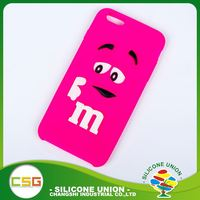 Cheap cartoon logo fashion universal silicone case cover for 4.7 inch cell phone
