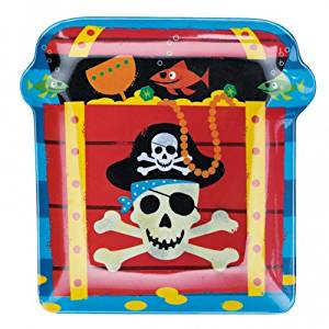 Pirate Plastic Snack Plate [toy]