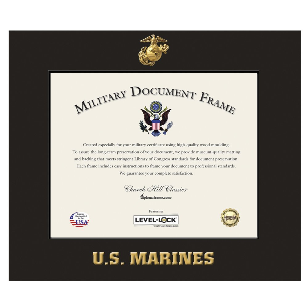 Buy Church Hill Classics Us Marine Corps Certificate Framephoto