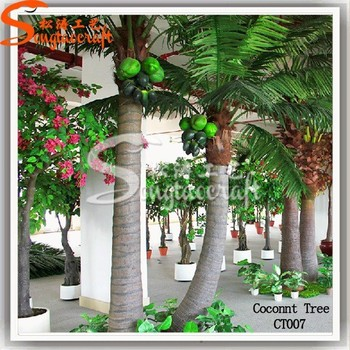wholesale chinese decoration fiberglass artificial coconut tree palm tree christmas ornaments