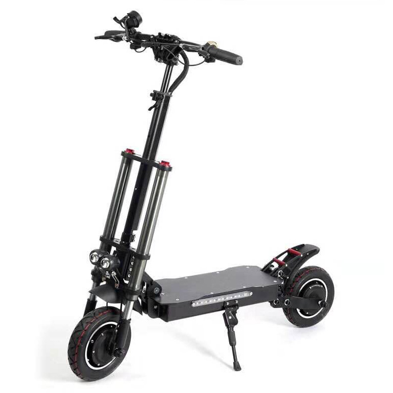 Factory Direct unfoldable Big Motor Off Road Dual Power Electric Scooter, Black or oem