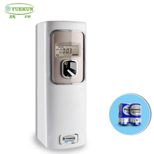 YUEKUN Timing Auto Aerosol Dispenser for hotel,plastic battery operated hotel automatic air freshener