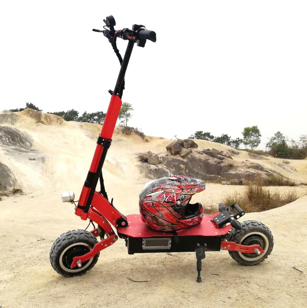 MAIKE Wholesale fast 5000W dual motor long range motorcycle 11inch off road fat tire electric scooter adult