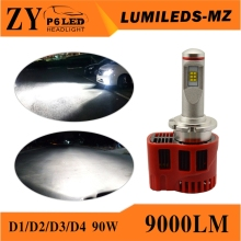 Led headlight bulb h4 hid conversion kit h7 h11 hb3 h15 9000lm 100w d2s d2r bulb ballast car accessories motorcycle