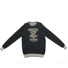Style Discharge Print Pullover Custom 12GG OEM Knitted Men Sweater
