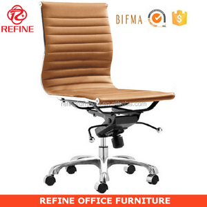 synthetic leather modern armless office chair no arms RF-S075W