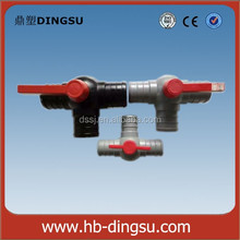 High Quality Pvc ball valve 3 way type 20mm