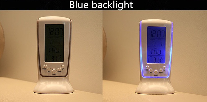 Elektronik Smart Musik Jam Alarm Desktop Backlight Snooze Jam Alarm Digital