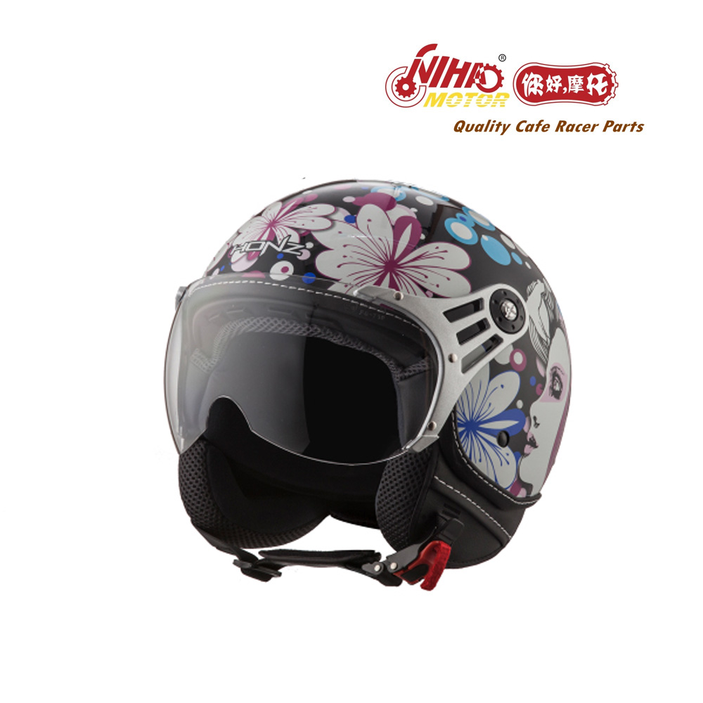2019 Motorcycle ECE Helmet DOT jet vintage leather electric scooter open face casco cascos half helm accessories for vespa