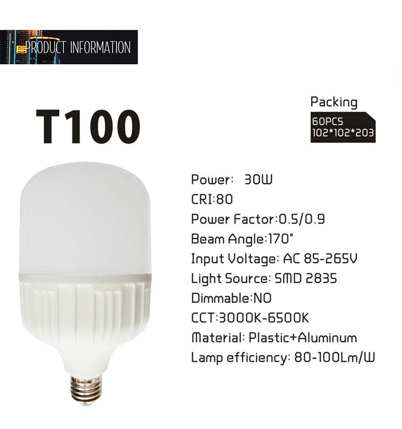 Lampe T100 2400lm 6000 Ampoules 3000 Rohs 4000 Haute W ZkXPiu