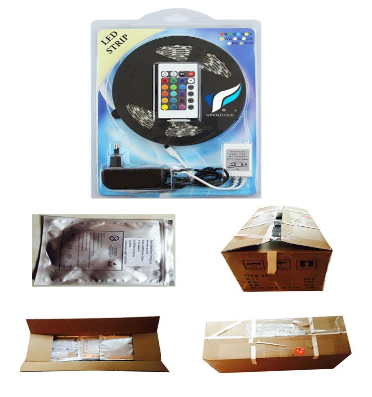 12vdc smd3014 240 leds/m individually addressable  led strip rgb 8mm for AD illumination