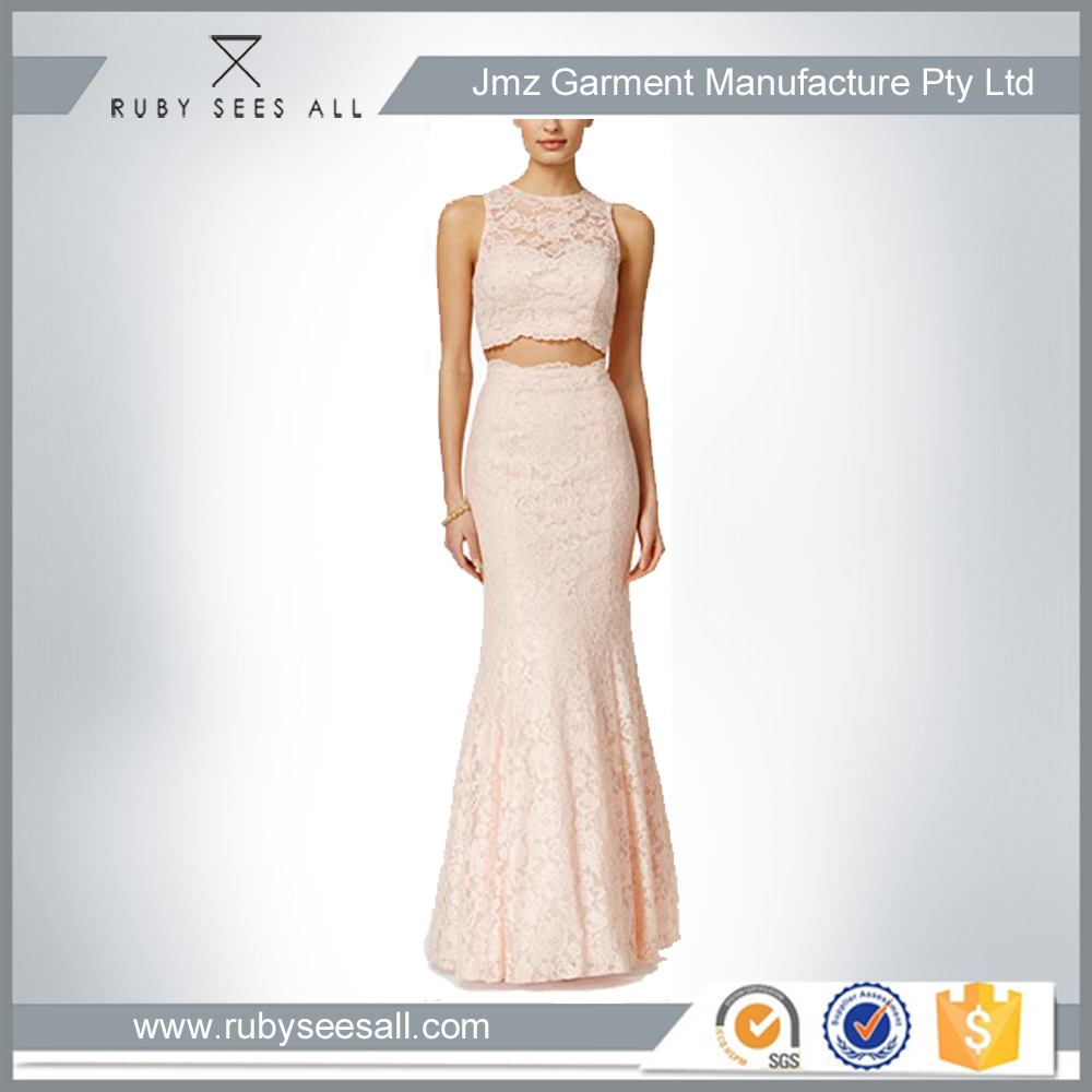Wholesale Sex Ladies Fashion Xscape Embellished Lace Two-Piece ladies casual mermaid dress