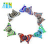 XULIN Handmade Glass Butterfly Murano Foil Lampwork Glass Pendants for necklace DIY 12pcs/box