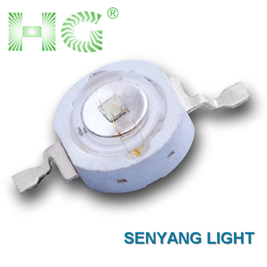Hot sell high brightness 3watt high power Green led 700mA 180-210lm with 45mil epildeds chip grow led light