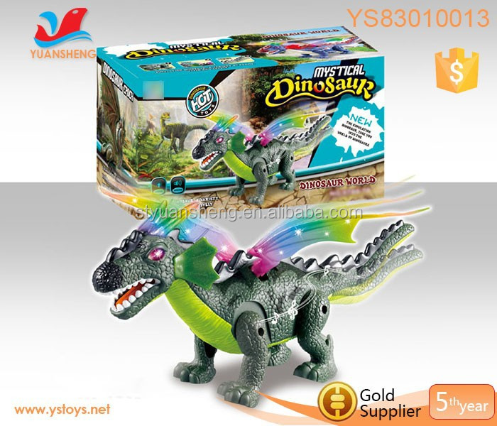 2015 newest musical walking dinosaur battery operated plastic dinosaur toys