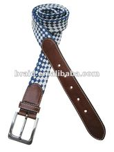 2012 hot sale lattice shape wax cotton rope woven belt
