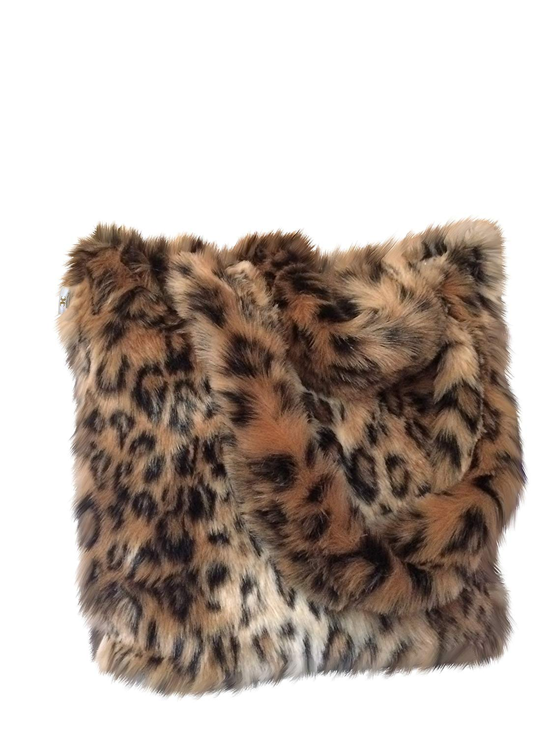 d3b80db6f688 Get Quotations · CHC-Beverly Hills Luxurious Signature Fluffy Fur Weekender Bag  Leopard-Print Large Overnight Duffel