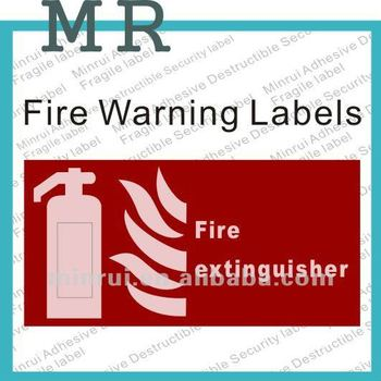 custom fire extinguisher sign labels fire warning adhesive labels