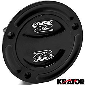 Krator Black Keyless Gas Cap Twist Off Fuel Tank Cap Logo For Suzuki GSXR 750 2004-2015