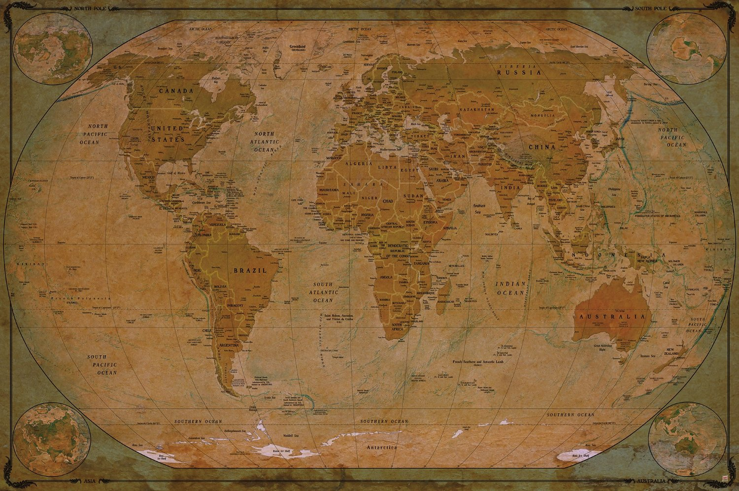 Cheap 7 inch wallpaper borders find 7 inch wallpaper borders deals get quotations world map atlas globus historic world map photo wallpaper vintage retro motif xxl gumiabroncs Image collections