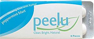 Peelu Chewing Gum Display - Peppermint Blast - 8 ct - Case of 12 , Not Specified , Candy/Gum, Food