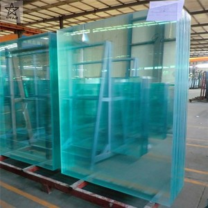 Yason high quality 10mm 12mm toughened glass clear cut size sheet glass 8x8 fence panels