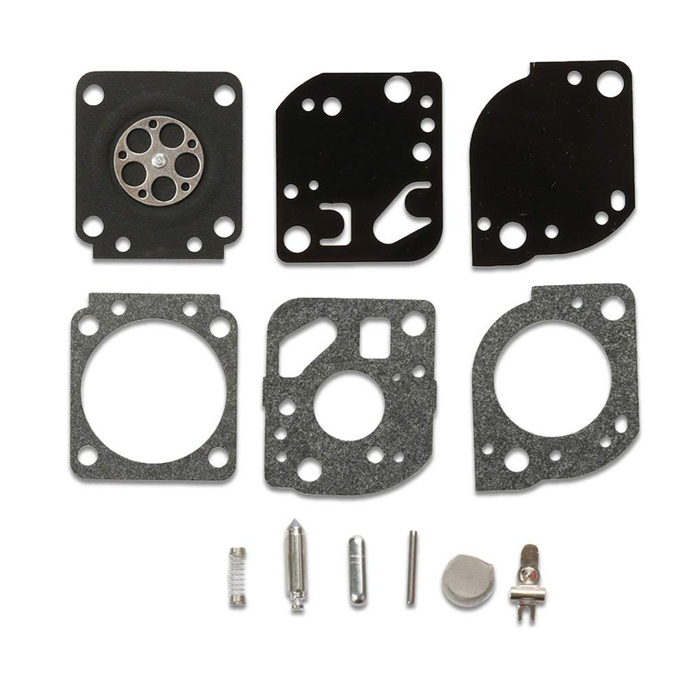 Kaymon Carburetor Repair Kits RB-117 for ZAMA C1U-W19 Poulan Craftman 530071811 PP025 PP25E PP26E PP125 PP325 P4500 P4500F SM705 SM706 Gas Trimmer