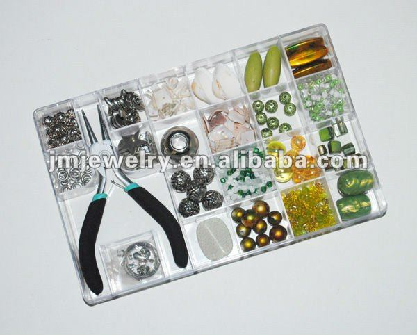 Fashion diy jewelry kit with tool for your own design,all types beads