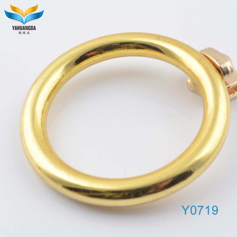 factory making top quality metal handbag hardware accessories flat o ring for bag strap hardware