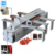 Precision panel saw machine with sliding table circular saw