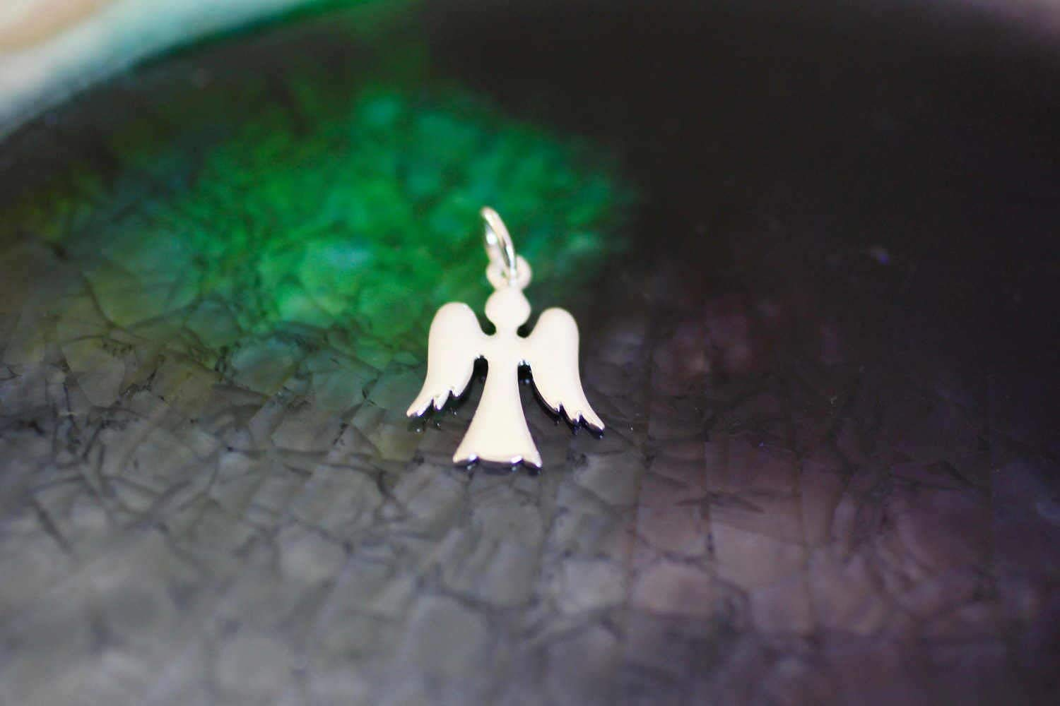 Angel Charm - Sterling Silver Angel - Guardian Angel - Guardian Angel Charm - Angel - Charm Necklace - Silver Angel - Gift for Her