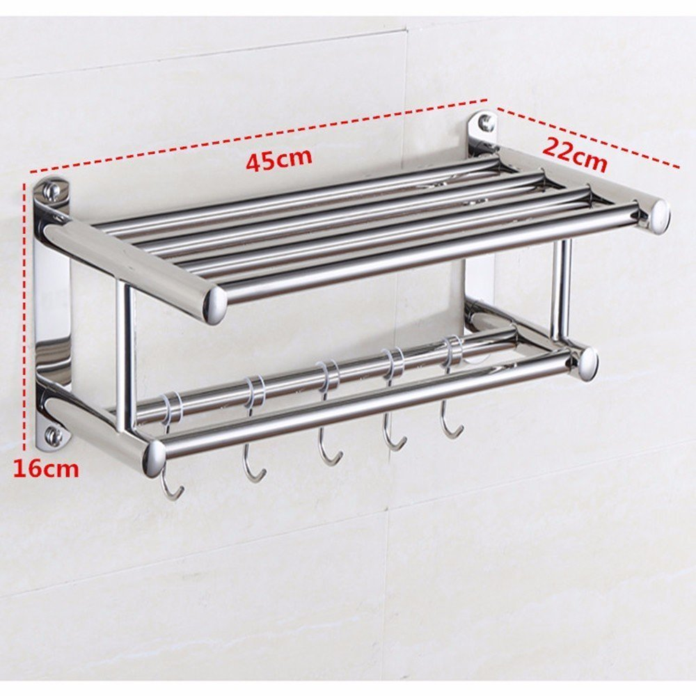 DACHUI Stainless steel towel rail sealed toilet Wall mounting 451622