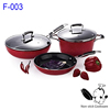 Teflon nonstick coating 5 pcs stone-coated german cookware wholesale pot and pan