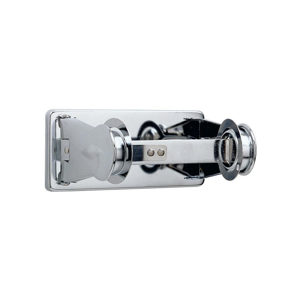 """Bobrick 264 ClassicSeries Chrome-Plated Steel Surface Mounted Single Roll Toilet Tissue Dispenser with Controlled Delivery, Bright-Polished Finish, 6"""" Width x 2-3/4"""" Height"""