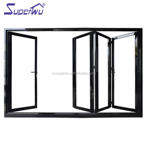 High quality folding door aluminum frame accordion door for bathroom