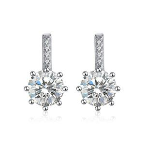 RISE109 Bijoux 2019 High Quality Earring Studs,925 Sterling Silver Crystal Stud Jewelry