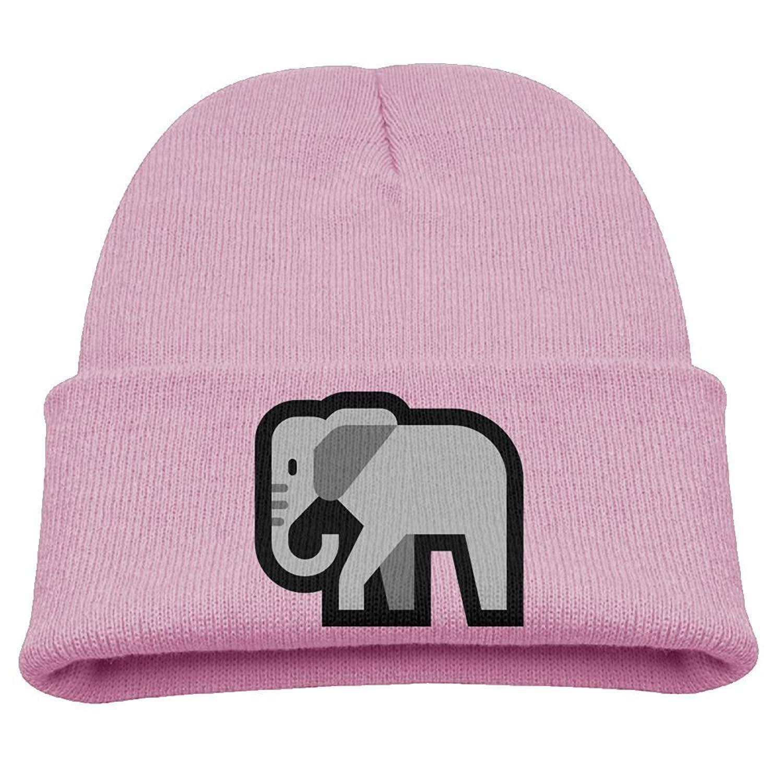 98a8eb8fd0c Get Quotations · Cute Emoji Elephant Kid s Hats Winter Funny Soft Knit  Beanie Cap